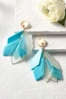 Geometric Drops Earrings