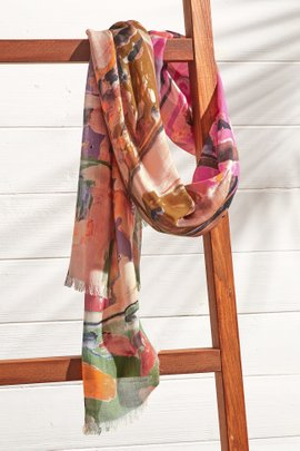 Painted Abstract Scarf