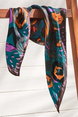 Painted Bouquet Silk Scarf
