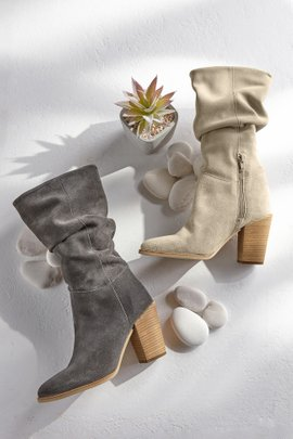 January Slouch Suede Boots