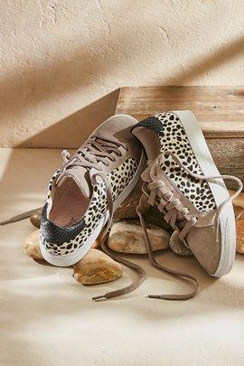 Cardi Suede Print Sneakers