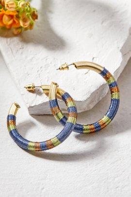 Fabric Hoop Earrings