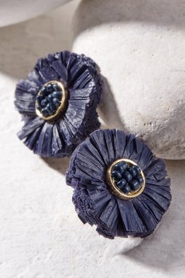 Raffia Circle Earrings