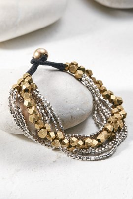 Brass Asymmetrical Bracelet