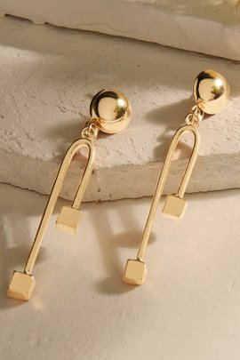 Asymmetric Gold Earrings