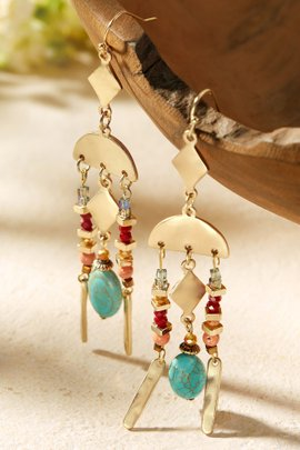 Boho Turq Earrings