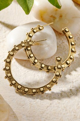 Textured Open Hoops