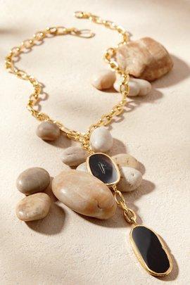 Alexis Lariat Agate Necklace