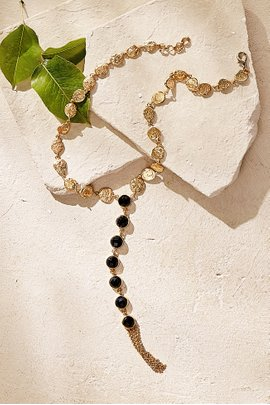 Stone Y-Drop Necklace
