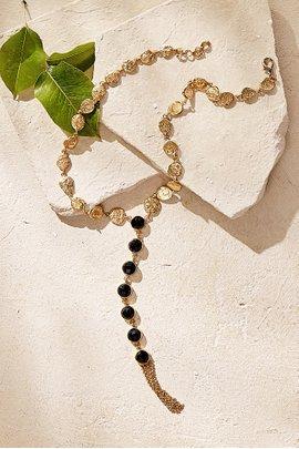 Stone Y-Drop Necklace