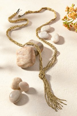 Brass Braided Necklace