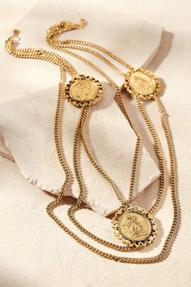 Roman Layered Coin Necklace