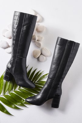 Brandy Croc Knee High Boot