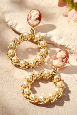 Pearl Nested Hoop Earrings