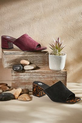 Chanelle Suede Heel Sandals