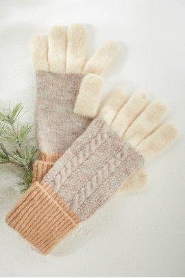 Blocked In Knit Glove