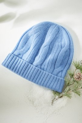 Cabled Cashmere Hat