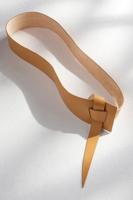 Wrap Tie Leather Belt