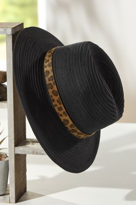 Leopard Band Hat