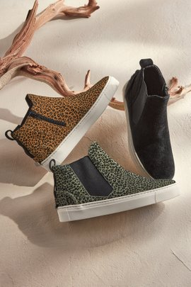 Leopard High-Top Slip-On Sneaker