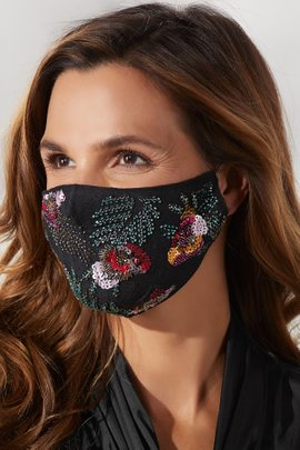 Floral Sequin Non-Medical Mask