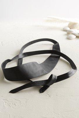 Leather Tie Wrap Belt