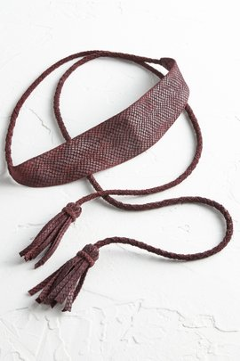 Rope Leather Wrap Belt