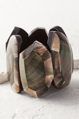 Mother-of-Pearl Stretch Cuff