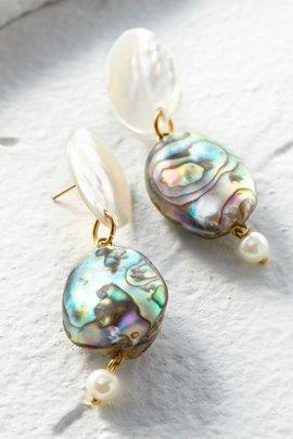 Abalone Pearl Earrings