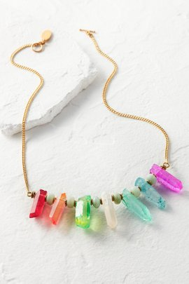 Aura Crystal Drop Necklace