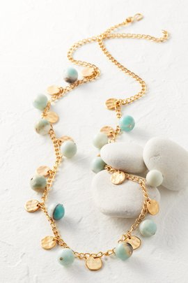 Amazonite Coin Necklace