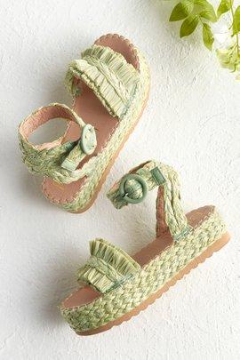 Raffia Ankle Wrap Sandal