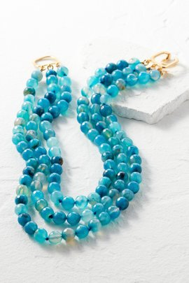 3-Strand Agate Necklace