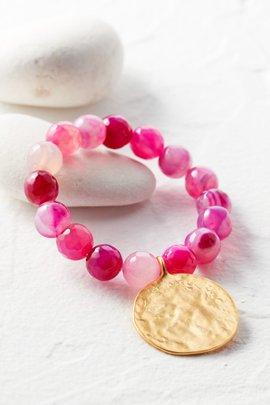 Agate Coin Bracelet