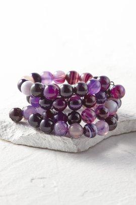 Agate Coil Bracelet