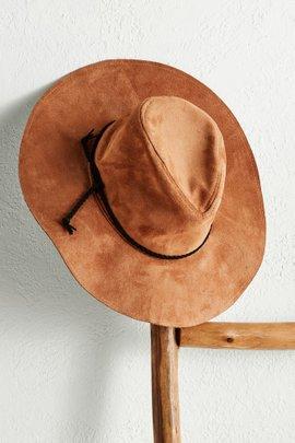 Faux Suede Boho Hat