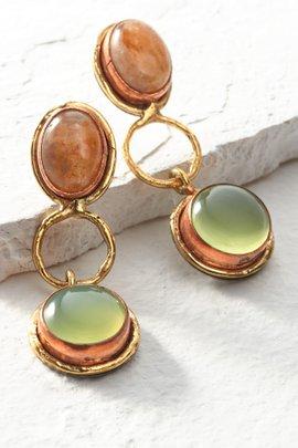 Jasper and Onyx Earrings