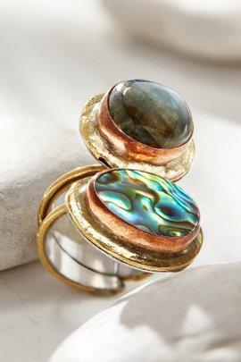 Dynamic Duo Stone Ring