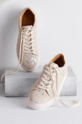 Metallic Calf Hair Sneaker
