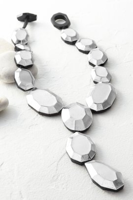 Faceted Lariat Necklace