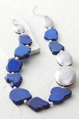 Metallic Foil Stone Necklace