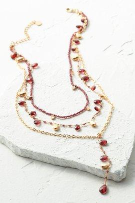 Garnet Layered Necklace