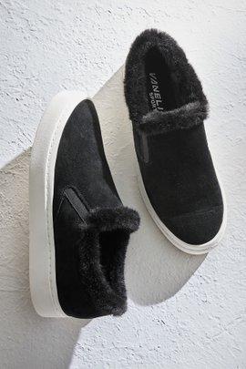 Fur Trimmed Slip On Sneaker