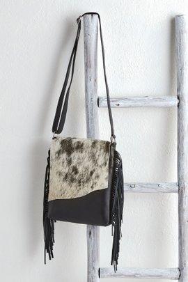 Cow Hide Flap Bag