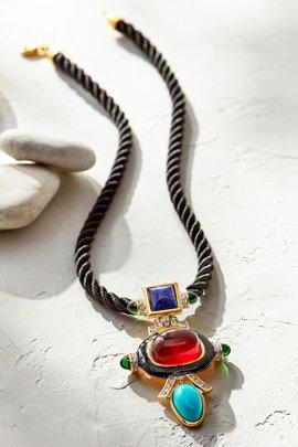 Deco Drop Pendant Necklace