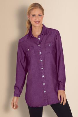 Womens Tencel Denim Shirt