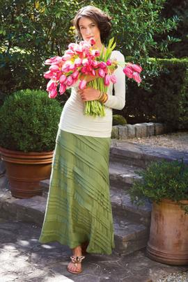 Knit Tiered Skirt