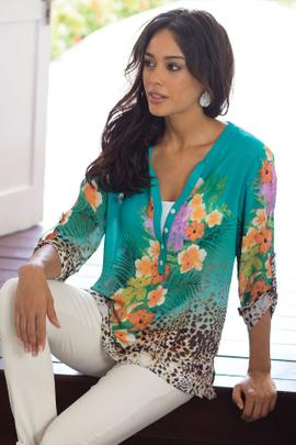 Petites Tropical Top