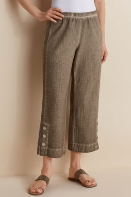 Gauze Crop Pants