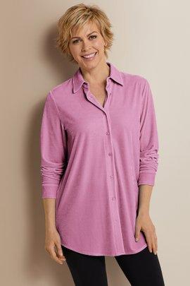 Velvet Boyfriend Shirt